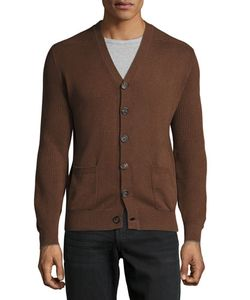 Brunello Cucinelli | Patch-Pocket Ribbed-Trim Cardigan