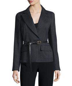 Donna Karan | Long-Sleeve Belted Jacket