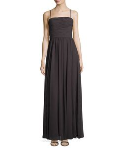 Vera Wang | Pleated A-Line Chiffon Gown