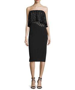 Cushnie Et Ochs | Strapless Dot-Print Ruffle Dress