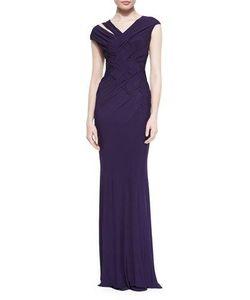 Donna Karan | Woven Cutout Jersey Gown