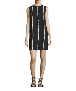 Derek Lam 10 Crosby | Sleeveless Striped Silk Shift Dress