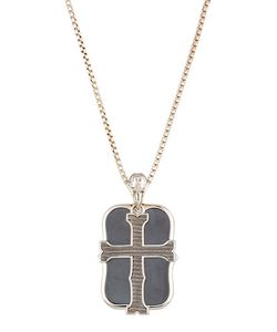 Stephen Webster | S London Calling Hematite Cross Double Dog Tag Necklace