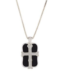 Stephen Webster | S London Calling Onyx Cross Double Dog Tag Necklace