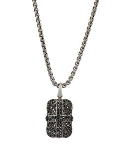Stephen Webster | S Pave Sapphire Union Jack Dog Tag Necklace