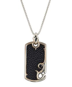 Stephen Webster | S Thorn Rayskin Dog Tag Pendant Necklace
