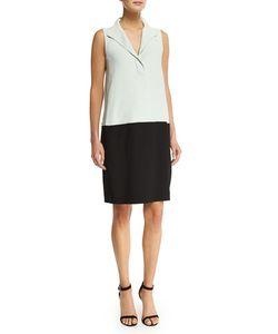 Narciso Rodriguez   Sleeveless Colorblock Shift Dress