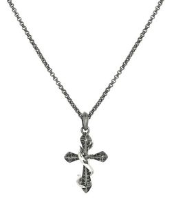 Stephen Webster | Thorn Cross Pendant Necklace W Sapphire Pave