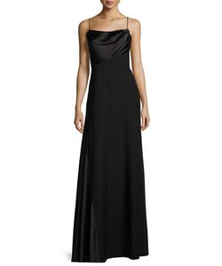 Vera Wang | Draped-Front Sleeveless Gown