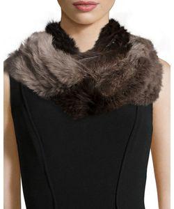 Jocelyn | Ombre Rabbit Fur Infinity Scarf
