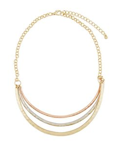 Kenneth Jay Lane | Tri-Tone Layered Triple-Row Necklace