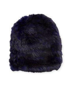 Jocelyn   Knit Fur Hat Heather