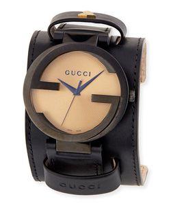 Gucci   42mm Grammyreg Xl Interlocking G Watch W Calfskin Strap