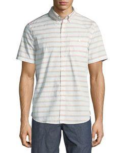 Michael Bastian | Horizontal Stripe Short-Sleeve Sport Shirt