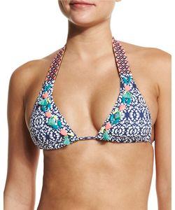 Ondademar | Embroide Halter Swim Top