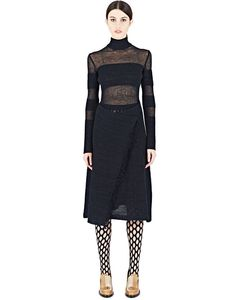 Proenza Schouler | Wrap-Over Mesh Dress