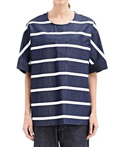 E. Tautz | Frinton Denim Stripe T-Shirt