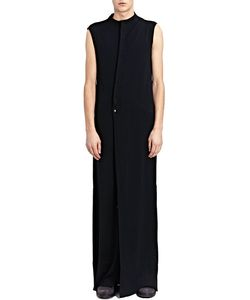 Thamanyah | Sleeveless Stand Collar Asymme