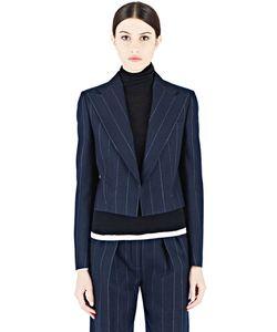 Lanvin   Cropped Pinstripe Jacket