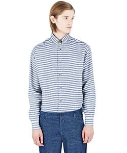 Aganovich | Striped Linen Shirt