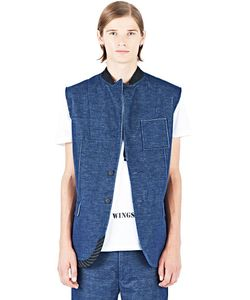 Aganovich | Sleeveless Denim Look Jacket
