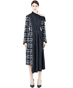 Aganovich | Long Pinstripe Dress