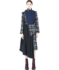 Aganovich | Long Tweed Dress Coat