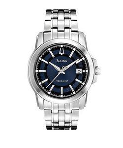 Bulova   Precisionist Stainless Steel Dial Quartz Watch 96b159