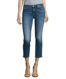 7 For All Mankind | Straight-Leg Ankle Jeans