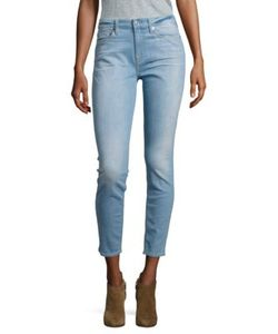 7 For All Mankind | Skinny-Fit Cropped Faded Jeans