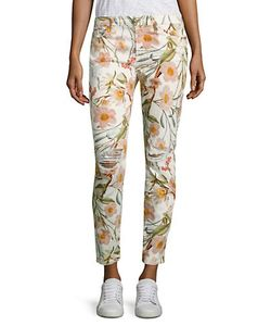 Seven for all Mankind | Tropical Printed Skinny Ankle Jeans