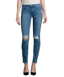 7 For All Mankind | The Skinny Distressed Skinny Jeans