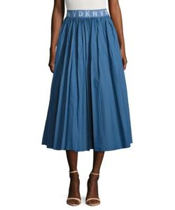Dkny Pure | Solid Pleated Skirt