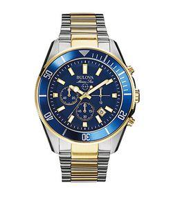 Bulova   Marine Star Chronograph Two-Tone Dial Watch 98b230