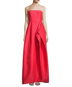 Halston Heritage | Strapless Faille Gown