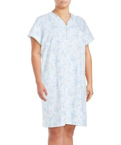 Miss Elaine | Cotton-Blend Nightgown