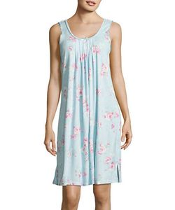 Miss Elaine | Rose Print Pleated Night Gown