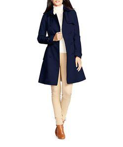 Lauren Ralph Lauren | Faux Leather-Trim Trench Coat