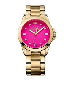 Juicy Couture | Ladies Goldtone And Crystal Stella Watch