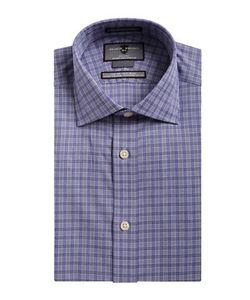Black Brown | Non-Iron Slim-Fit Plaid Dress Shirt