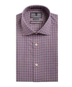 Black Brown | Slim Fit Plaid Dress Shirt