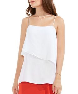 Vince Camuto | Asymmetric Overlay Squareneck Camisole