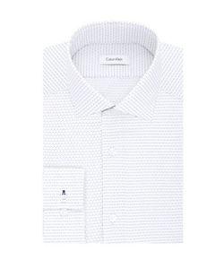 Calvin Klein | Micro Printed Cotton Dress Shirt