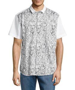 Calvin Klein | Scribble Print Button-Down Shirt