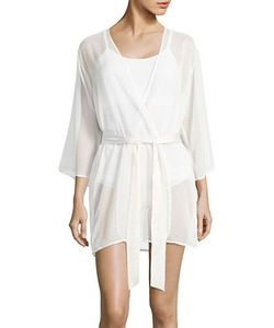 Kate Spade New York   Dotted Bow Wrap Robe
