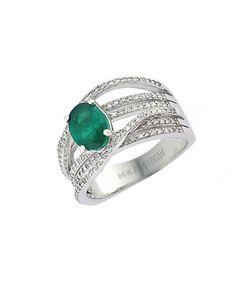Effy | Brasilica 14kt. Emerald And Diamond Ring
