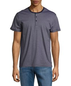 HUGO BOSS | Striped Short Sleeved Henley Tee