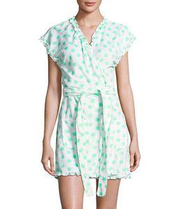 Betsey Johnson   Polka Dot Cap Sleeve Robe