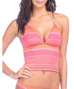 Polo Ralph Lauren | Playa Stripe Cropped Halterkini Top