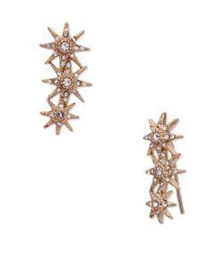 Jenny Packham | Crystal Embellished Ear Crawler Earrings
